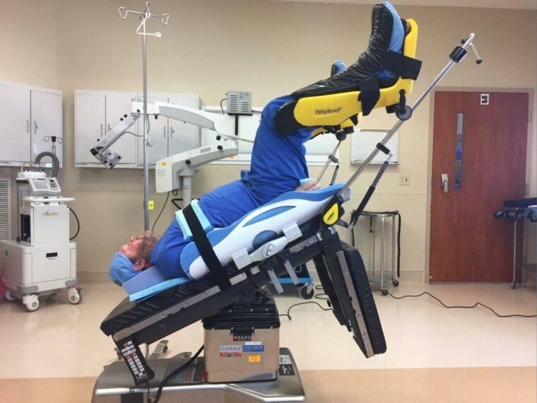 Trendelenburg Positioning Pad for Cardiac Patient Positioning